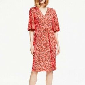 Boden NWT Red Ines Flutter Sleeve Dress 10R